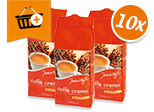 Jeden Tag Caffè Crema: Kaufe 10 zahle 76,90€